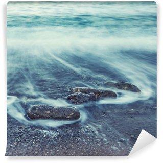 Vinylová Fototapeta Minimalistický Seascape. Pobřežní Sunrise.