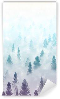 Vinylová Fototapeta Misty forest terén