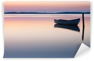 Fototapeta Winylowa Mistyczne morze. Streszczenie naturalne tła. Księżyc scena po słońcu
