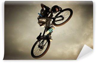 Vinylová Fototapeta Mladý muž létání na kole: Dirt jump