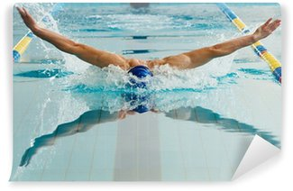 Vinylová Fototapeta Mladý plavec pomocí prsa techniku