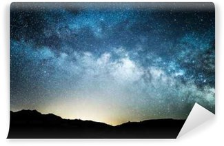 Vinylová Fototapeta Mléčná dráha jak je vidět z údolí smrti v noci