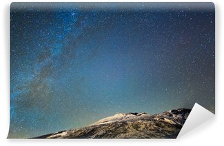 Vinylová Fototapeta Mléčná dráha nad sopkou Etna. Sicily, Italy