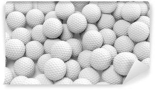 Vinylová Fototapeta Mnoho golfové míčky spolu detailní izolovaných na bílém