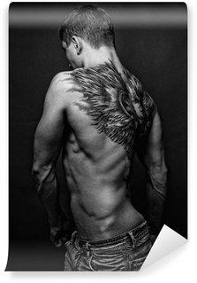Vinylová Fototapeta Moael s andělem tetování