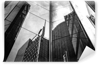 Vinylová Fototapeta Moderní architektura černá a bílá