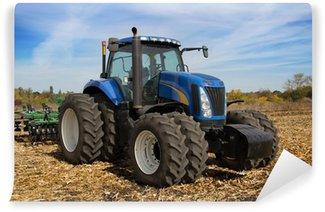 Vinylová Fototapeta Moderní farma traktor s květináč