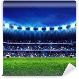 Vinylová Fototapeta Moderní fotbalový stadion s fanoušky v hledišti