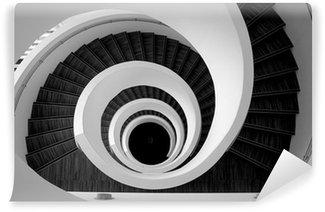 Vinylová Fototapeta Moderní spirálové schodiště detail