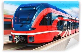 Vinylová Fototapeta Moderní vysokorychlostní vlak
