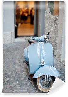 Vinylová Fototapeta Modrá Classic Scooter