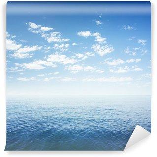 Vinylová Fototapeta Modrá obloha nad mořem nebo povrchu vody oceánu