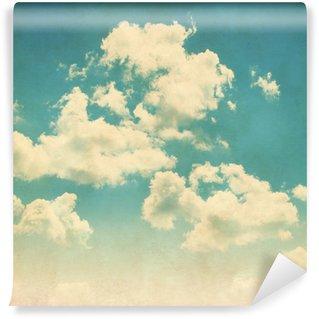 Vinylová Fototapeta Modrá obloha s mraky ve stylu grunge.