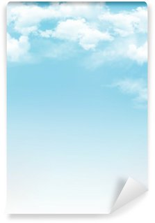 Vinylová Fototapeta Modrá obloha s mraky. Vektorové pozadí
