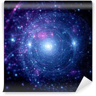 Vinylová Fototapeta Modrá Růžová hvězdné systémy