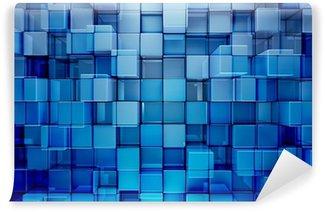 Vinylová Fototapeta Modré bloky abstraktní pozadí