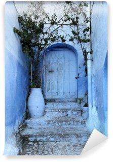 Vinylová Fototapeta Modré dveře v Medina Chefchaouen, Maroko