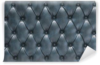 Vinylová Fototapeta Modré kožené čalouněné čalouněný povrch