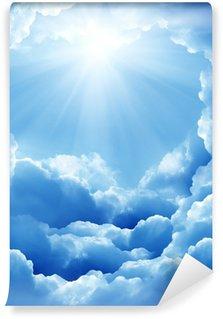 Vinylová Fototapeta Modré nebe s slunce a krásné mraky