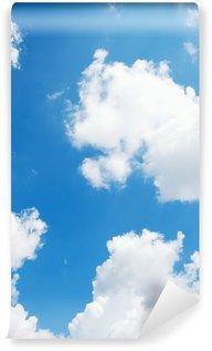 Vinylová Fototapeta Modré pozadí oblohy s bílými mraky