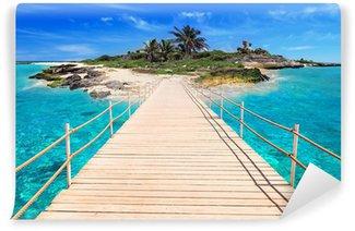 Vinylová Fototapeta Molo na tropickém ostrově Karibského moře