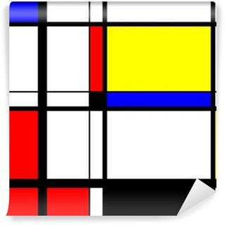 Vinylová Fototapeta Mondrian Digitální umění
