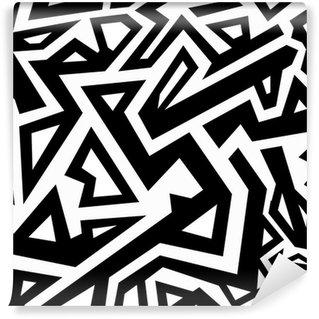 Fototapeta Winylowa Monochromatyczny aztec szwu wzór