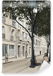 Vinylová Fototapeta Montmartre v Paříži
