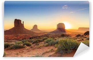 Vinylová Fototapeta Monument Valley soumrak, AZ, USA
