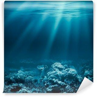 Vinylová Fototapeta Moře hluboký oceán nebo pod vodou s korálovým útesem jako podklad pro