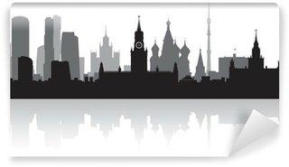 Vinylová Fototapeta Moscow city skyline vektor silueta