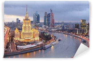 Vinylová Fototapeta Moscow City ve večerních hodinách
