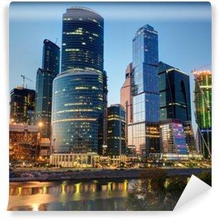 Vinylová Fototapeta Moskva-město (Moskva International Business Center) v noci