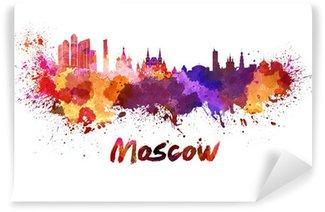 Vinylová Fototapeta Moskva panorama v akvarel