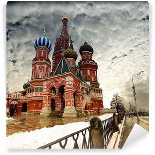 Vinylová Fototapeta Moskva St Basil katedrála