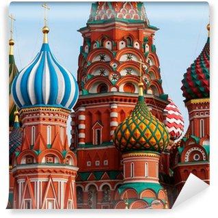 Vinylová Fototapeta Moskva Svatý Basil katedrála kopule
