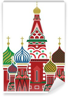 Vinylová Fototapeta Moskva symbol - Chrám Vasila Blaženého, Rusko