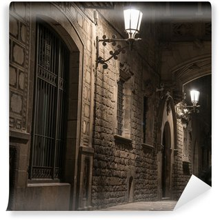 Fototapeta Winylowa Most w Bishop Street w Barri Gotic, Barcelona