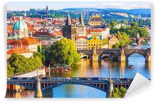 Vinylová Fototapeta Mosty Praha, Česká republika