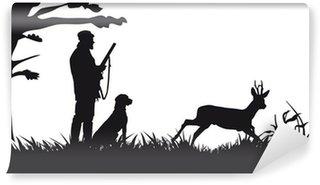 Vinylová Fototapeta Motiv lov zvířat a krajin