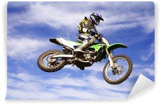 Vinylová Fototapeta Moto cross skok