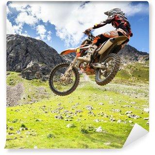 Vinylová Fototapeta Motocross outdoor