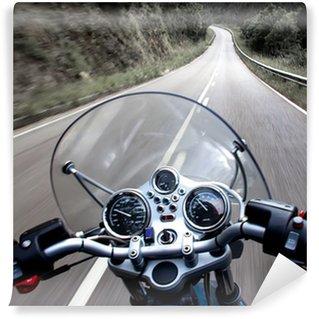 Vinylová Fototapeta Motocykl pohled jezdec