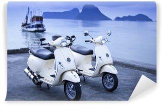 Vinylová Fototapeta Motocykly u moře