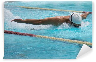 Vinylová Fototapeta Motýla závod v bazénu