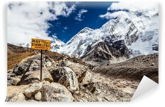 Vinylová Fototapeta Mount Everest rozcestník