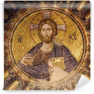 Vinylová Fototapeta Mozaika Pantokrator na jihu dome vnitřní narthex Chora kostela, Istanbul, Turecko.