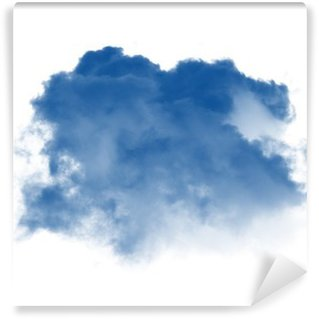 Vinylová Fototapeta Mraky nebo modrý kouř na bílém pozadí