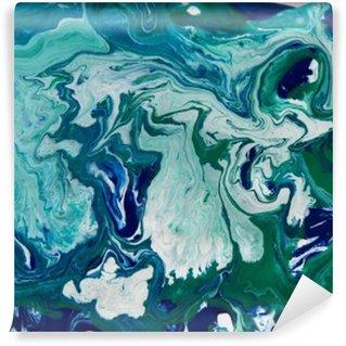 Vinylová Fototapeta Mramorovaný modré pozadí abstraktní. Liquid mramor vzor. Mramorování akryl textury