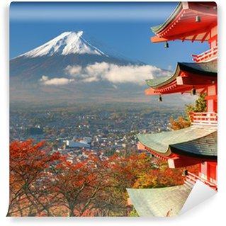 Vinylová Fototapeta Mt. Fuji a Pagoda